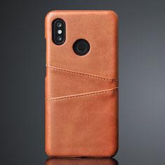 Funda Lujo Cuero Carcasa S02 para Xiaomi Mi 8 Marron