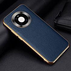 Funda Lujo Cuero Carcasa S03 para Huawei Mate 40 Pro Azul