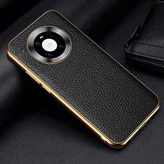 Funda Lujo Cuero Carcasa S03 para Huawei Mate 40 Pro Negro