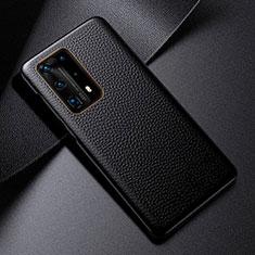 Funda Lujo Cuero Carcasa S03 para Huawei P40 Pro+ Plus Negro