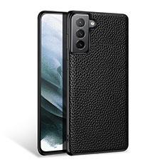 Funda Lujo Cuero Carcasa S03 para Samsung Galaxy S21 5G Negro