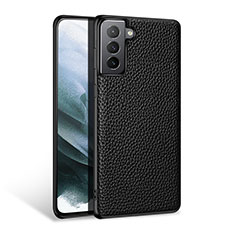 Funda Lujo Cuero Carcasa S03 para Samsung Galaxy S21 Plus 5G Negro