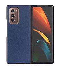 Funda Lujo Cuero Carcasa S03 para Samsung Galaxy Z Fold2 5G Azul