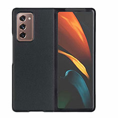 Funda Lujo Cuero Carcasa S03 para Samsung Galaxy Z Fold2 5G Negro