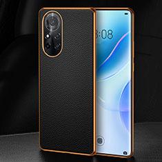 Funda Lujo Cuero Carcasa S07 para Huawei Nova 8 5G Negro