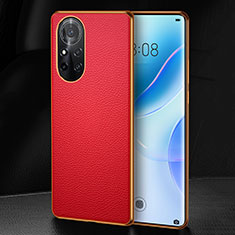 Funda Lujo Cuero Carcasa S07 para Huawei Nova 8 Pro 5G Rojo