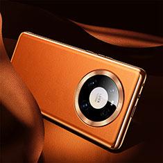 Funda Lujo Cuero Carcasa S08 para Huawei Mate 40 Naranja