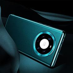 Funda Lujo Cuero Carcasa S08 para Huawei Mate 40 Pro+ Plus Cian