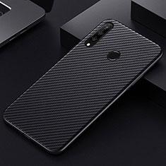Funda Lujo Fibra de Carbon Carcasa Twill T01 para Huawei Honor 20 Lite Negro
