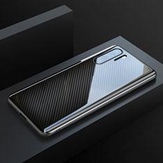 Funda Lujo Fibra de Carbon Carcasa Twill T01 para Huawei P30 Pro Negro