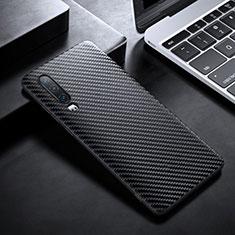 Funda Lujo Fibra de Carbon Carcasa Twill T02 para Huawei P30 Negro