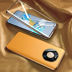 Funda Lujo Marco de Aluminio Carcasa 360 Grados K02 para Huawei Mate 40 Pro Amarillo