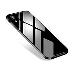 Funda Lujo Marco de Aluminio Carcasa M01 para Apple iPhone XR Negro