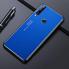 Funda Lujo Marco de Aluminio Carcasa M01 para Huawei Enjoy 10 Plus Azul