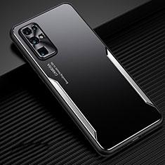 Funda Lujo Marco de Aluminio Carcasa M01 para Huawei Honor 30 Plata