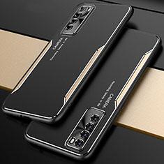 Funda Lujo Marco de Aluminio Carcasa M01 para Huawei Nova 7 5G Oro