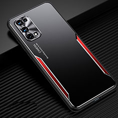 Funda Lujo Marco de Aluminio Carcasa M01 para Realme Q2 Pro 5G Rojo