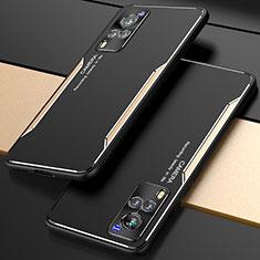 Funda Lujo Marco de Aluminio Carcasa M01 para Vivo X60 5G Oro