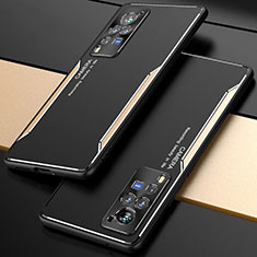 Funda Lujo Marco de Aluminio Carcasa M01 para Vivo X60 Pro 5G Oro