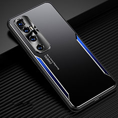 Funda Lujo Marco de Aluminio Carcasa M01 para Xiaomi Mi 10 Ultra Azul