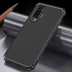 Funda Lujo Marco de Aluminio Carcasa M03 para Vivo X50 5G Negro