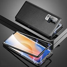 Funda Lujo Marco de Aluminio Carcasa M04 para Vivo X50 Pro 5G Negro