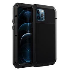 Funda Lujo Marco de Aluminio Carcasa N01 para Apple iPhone 12 Pro Max Negro
