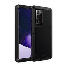 Funda Lujo Marco de Aluminio Carcasa N01 para Samsung Galaxy Note 20 Ultra 5G Negro