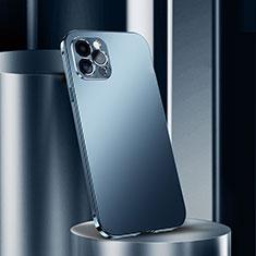 Funda Lujo Marco de Aluminio Carcasa N02 para Apple iPhone 12 Pro Max Azul
