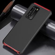 Funda Lujo Marco de Aluminio Carcasa N02 para Huawei P40 Pro Rojo y Negro