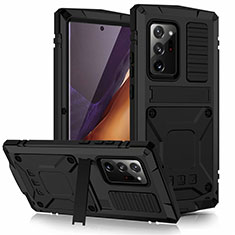 Funda Lujo Marco de Aluminio Carcasa N03 para Samsung Galaxy Note 20 Ultra 5G Negro