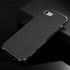 Funda Lujo Marco de Aluminio Carcasa para Apple iPhone SE (2020) Negro