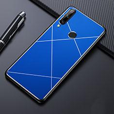Funda Lujo Marco de Aluminio Carcasa para Huawei Enjoy 10 Plus Azul
