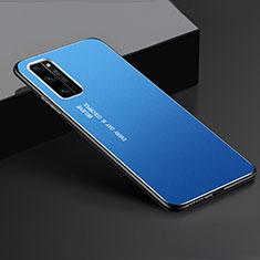 Funda Lujo Marco de Aluminio Carcasa para Huawei Honor 30 Pro+ Plus Azul