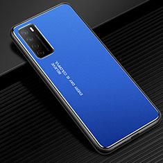 Funda Lujo Marco de Aluminio Carcasa para Huawei Honor Play4 5G Azul