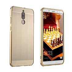 Funda Lujo Marco de Aluminio Carcasa para Huawei Mate 10 Lite Oro