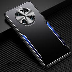Funda Lujo Marco de Aluminio Carcasa para Huawei Mate 40 Azul