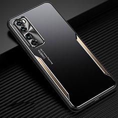 Funda Lujo Marco de Aluminio Carcasa para Huawei Nova 7 Pro 5G Oro
