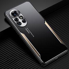 Funda Lujo Marco de Aluminio Carcasa para Huawei Nova 8 5G Oro