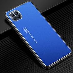 Funda Lujo Marco de Aluminio Carcasa para Huawei Nova 8 SE 5G Azul