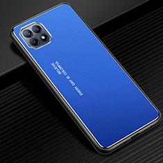 Funda Lujo Marco de Aluminio Carcasa para Oppo Reno4 SE 5G Azul