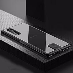 Funda Lujo Marco de Aluminio Carcasa para Sony Xperia 5 Negro