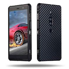 Funda Lujo Marco de Aluminio Carcasa para Sony Xperia XZ2 Premium Negro