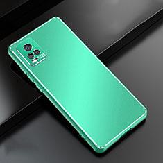 Funda Lujo Marco de Aluminio Carcasa para Vivo V20 Pro 5G Verde