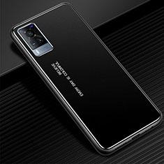 Funda Lujo Marco de Aluminio Carcasa para Vivo X60 5G Negro