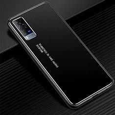 Funda Lujo Marco de Aluminio Carcasa para Vivo X60 Pro 5G Negro
