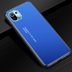 Funda Lujo Marco de Aluminio Carcasa para Xiaomi Mi 11 5G Azul