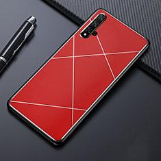 Funda Lujo Marco de Aluminio Carcasa T02 para Huawei Honor 20 Rojo