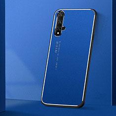 Funda Lujo Marco de Aluminio Carcasa T04 para Huawei Nova 5T Azul