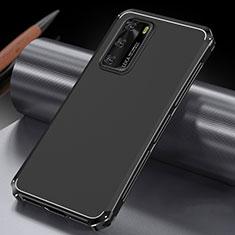 Funda Lujo Marco de Aluminio Carcasa T04 para Huawei P40 Negro
